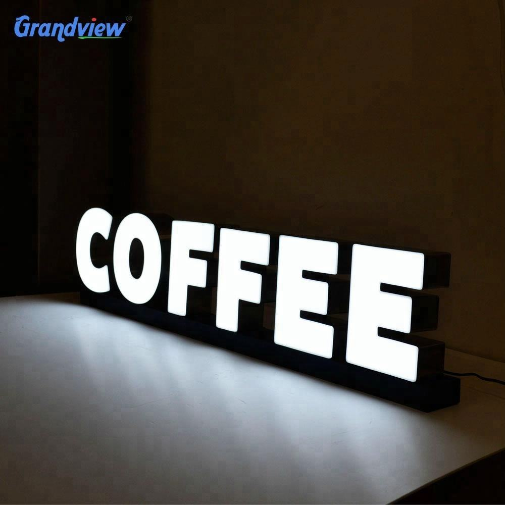 Light 3d Sign Custom Business Outdoor Advertising 3d Letter Light Channel Led Sign