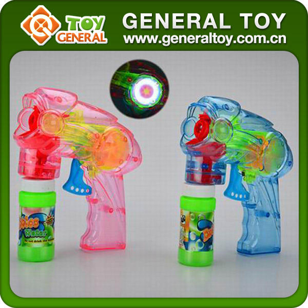 20*23*6cm Plastic Light Up Bubble Gun Transparent Bubble Gun