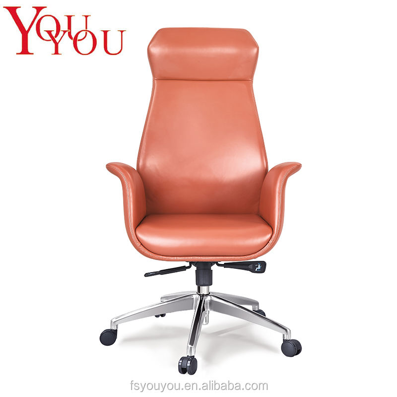 Comfortable chrome base adjustable office chair with PU castor office chairs in guangzhou