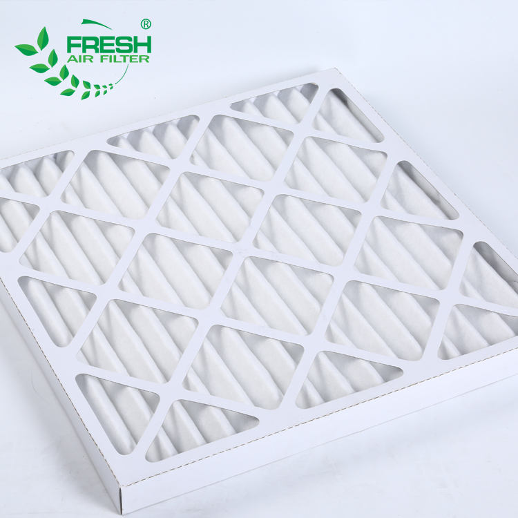HVAC Cardboard Pleat Panel Air Conditioner Filter for Ventilation System
