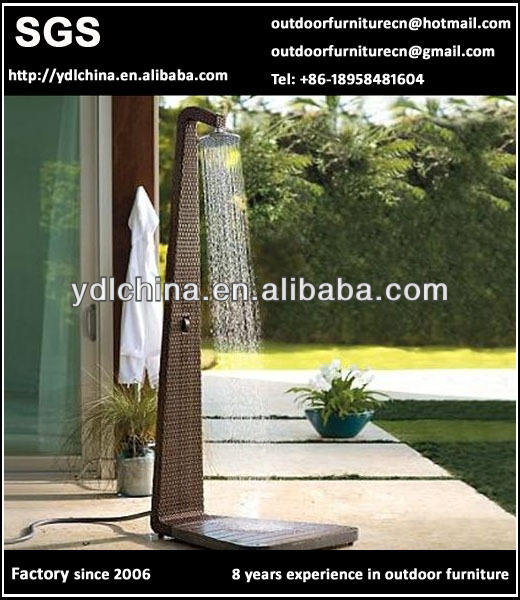custom make outdoor wicker rattan garden shower