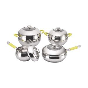 Nicety wholesale food warmer cookware set stainless steel cooking pots apple shape pot with lid