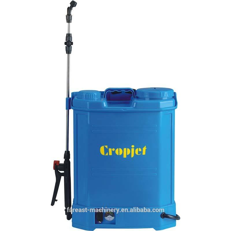 16L battery pump operated backpack agricultural sprayer knapsack electric sprayer