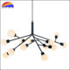 Iron black frosted glass pendant light lamp chandelier glass balls fit G9 LED lamps for living room hotel restaurant