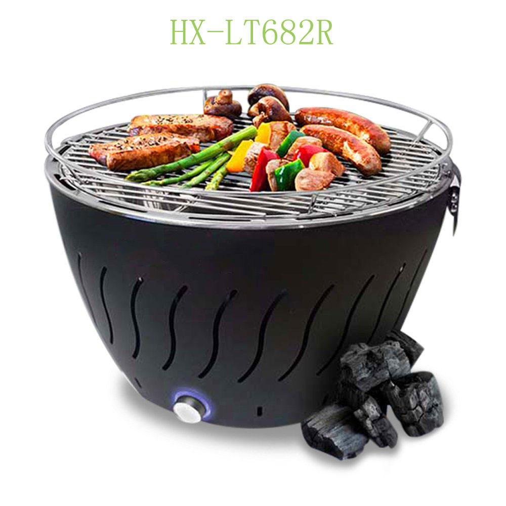 Indoor En Outdoor Draagbare Lotus Bettery Operated Rookloze Bbq Houtskool Mini Grill Tafelblad Barbecue Grill Met Polyester Zak