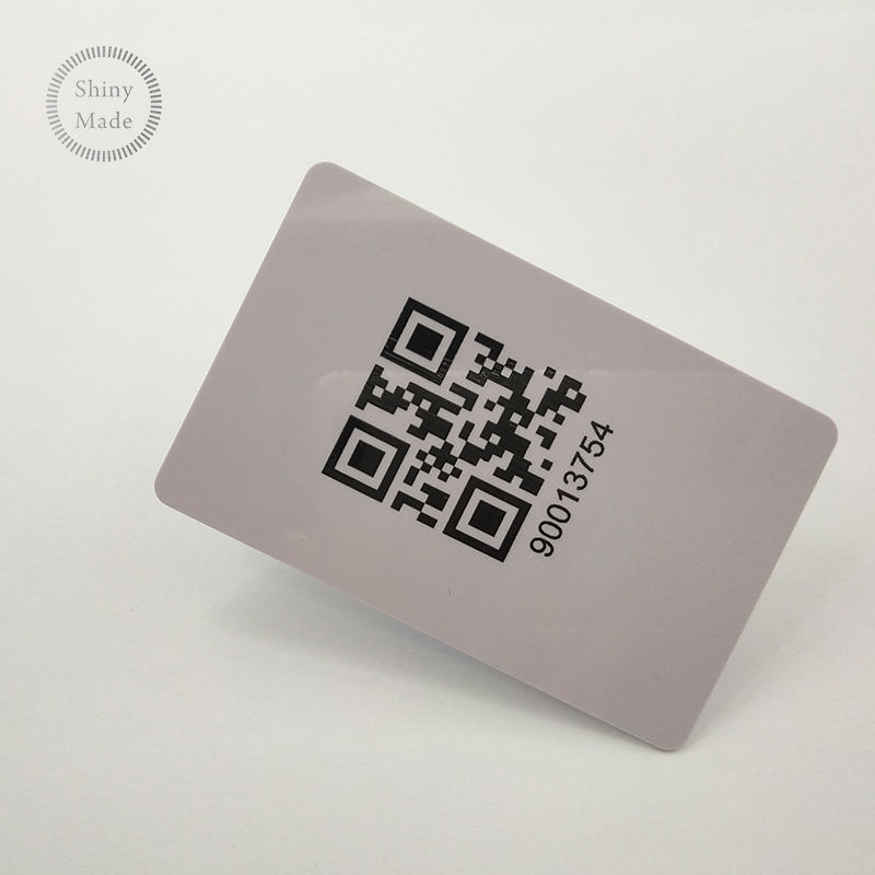 Custom White Blank Plastic Qr Code, Id Press Business Transparent Inkjet Membership Pvc Card Visa
