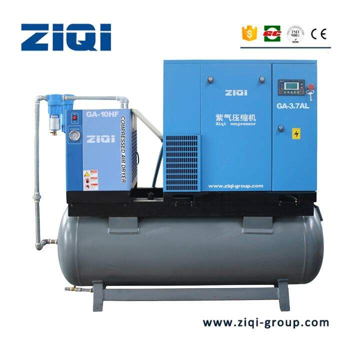 7hp 5.5kw 10bar combiné elgi compresseur d'air comprennent sécheur d'air