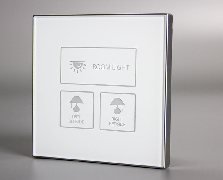 Unique icons design 3 gang led hotel touch light switch for related control