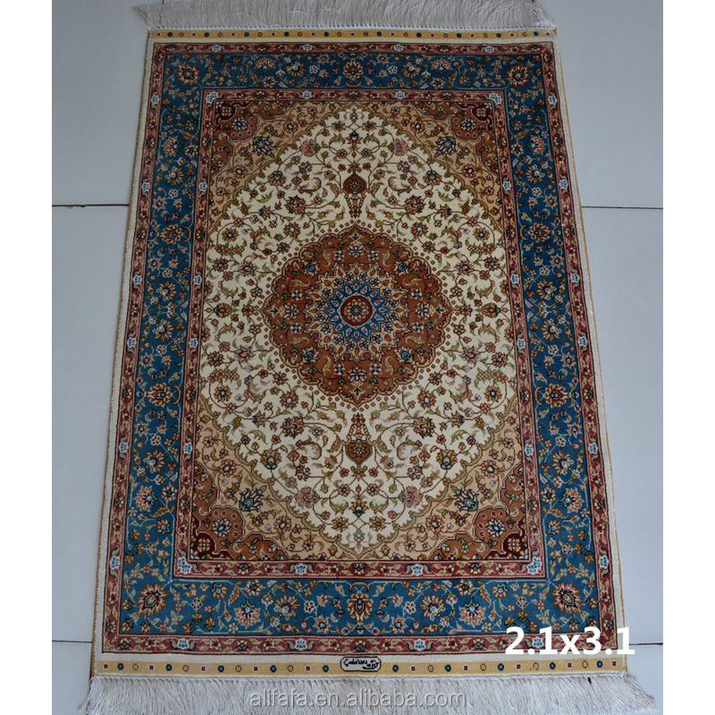 Oriental china persian handknotted silk area rug