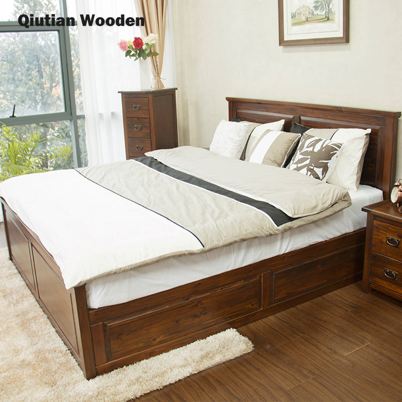 High quality king size bed antique bedroom furniture set