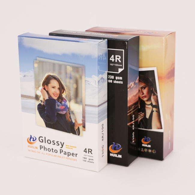 Inkjet Glossy photo paper for Epson printer 180g, A4, 4x6,