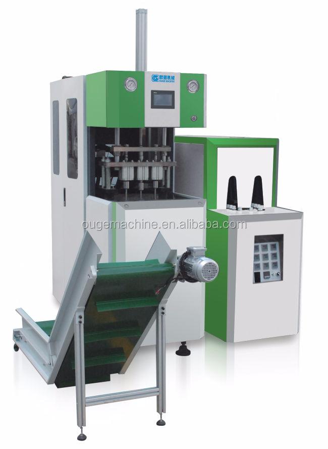 Taizhou Semi-Automática <<span class=keywords><strong>br</strong></span>/> 4 Cavidade Máquina de Moldagem Por Sopro Com Automático de Água Mineral Garrafa Caindo
