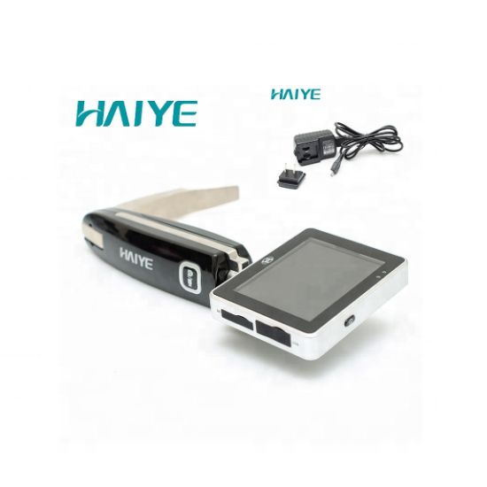 Non-active surgical instrument haiye brand video laryngoscope with three different size disposable blades