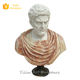 Mixed Color Stone Roman Man Bust Sculpture For Sale