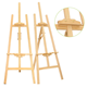 Pine wood easel 150cm for painting,display