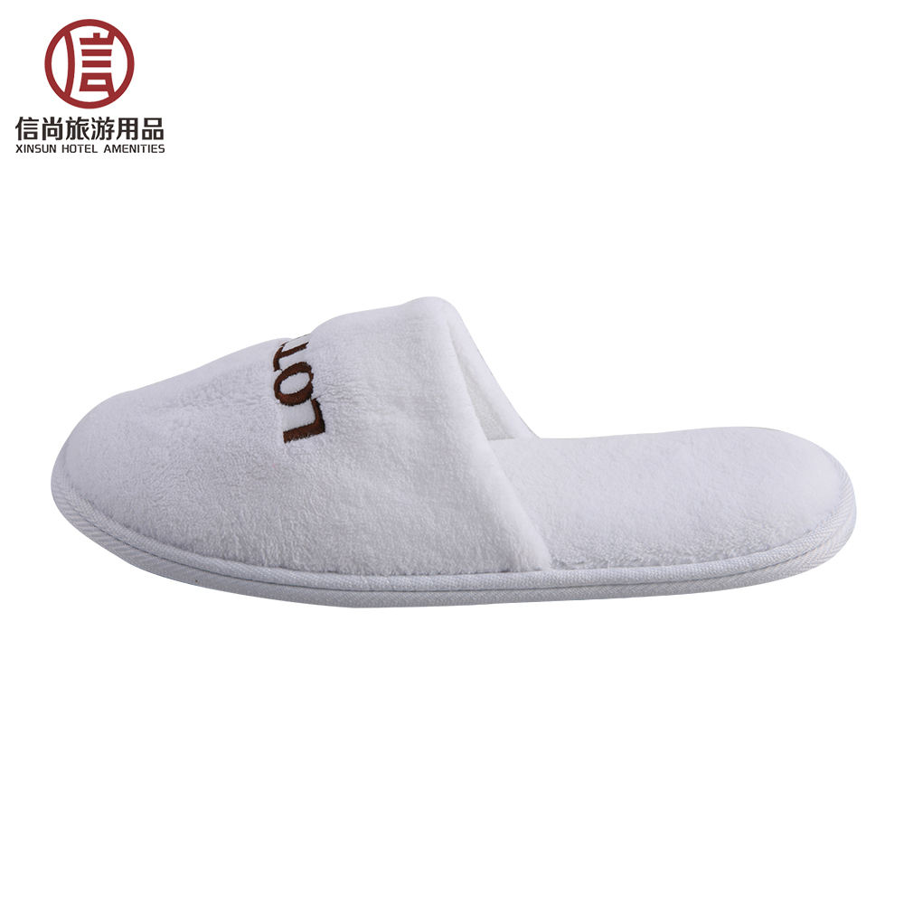 Hotel washable coral fleece spa slippers