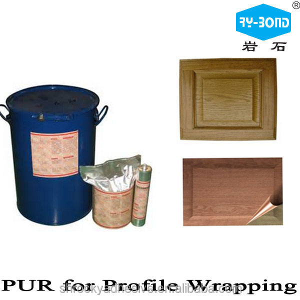 PUR Unfilled Edge Banding Profile wrapping Hot Melt Adhesive