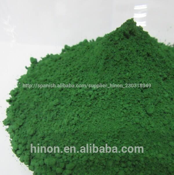 Esmalte de color del pigmento de óxido de cromo verde, pigmento mineral