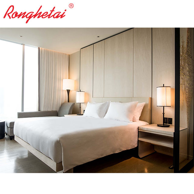 Logo Customization [ Suite ] 2018 Ronghetai Luxury Commercial Room Suite Wooden Hotel Room Furniture TF1008