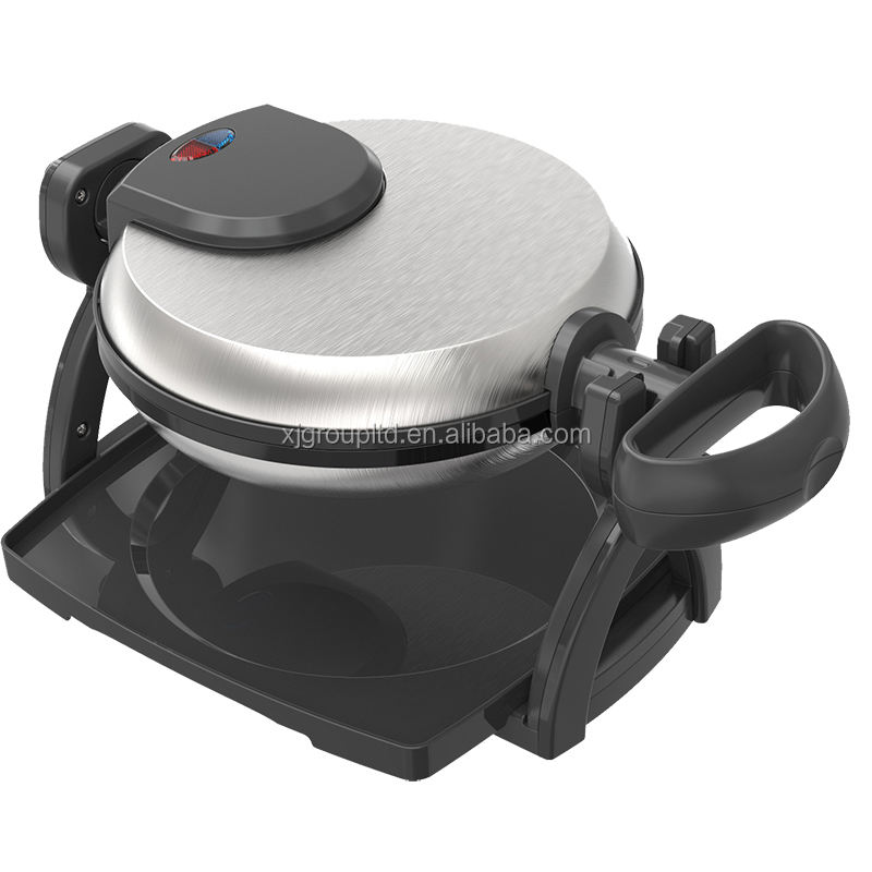 XJ-22883 flip waffle maker with drip tray and indicator light for making fresh and tasty waffle 2018 new product hot sell
