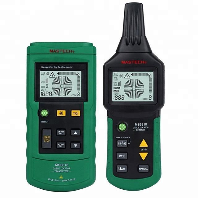 Mastech MS6818 Cable Fault Locator Metalen Pijp Locator Detector Tester Meter AC/DC 12 ~ 400 v