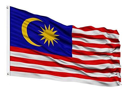 Hot Wholesale Custom Size Malaysia National Flag 3*5FT 150*90CM Printed and Flying Style Malaysian Polyester Banner