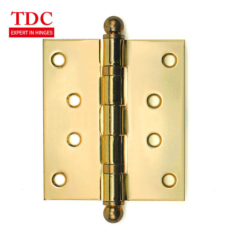 """L1 BOX OF 20 10 PAIRS 4/"""" BRASS HURLINGES LOOSE PIN HINGES DOOR REMOVABLE PIN"""