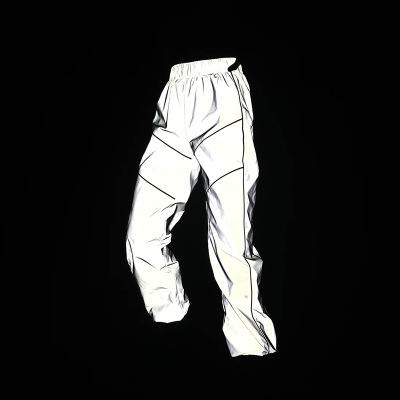 Hip Hop Dance Fluorescent Trousers Casual Harajuku Night Sporting Joggers Pants Reflective Pants Women