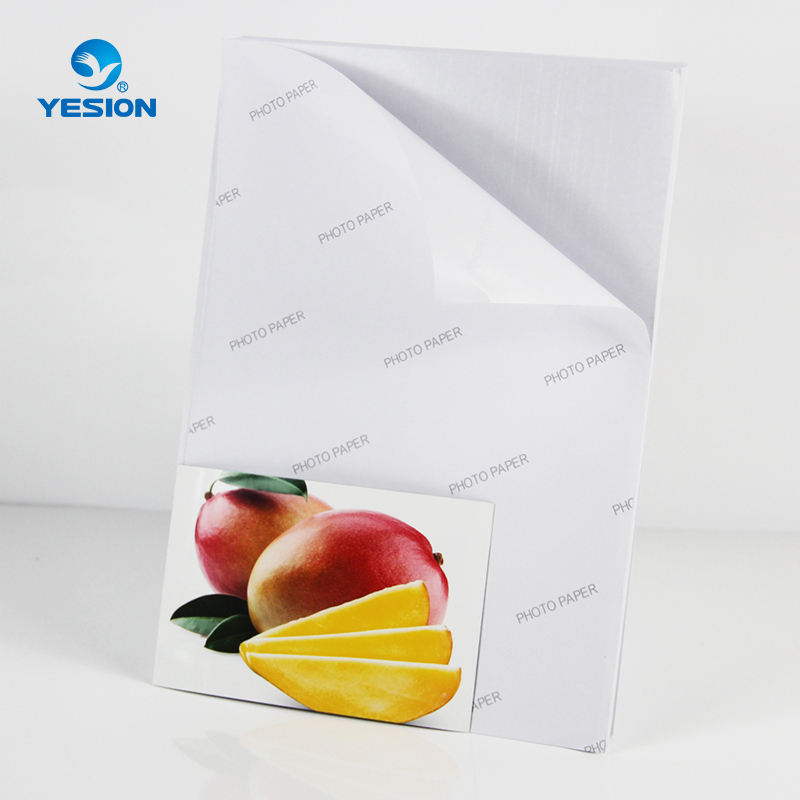 Yesion 90gsm 120gsm 135gsm 150gsm A3 A4 Self Adhesive/Sticker Glossy Photo Paper For Inkjet Printer
