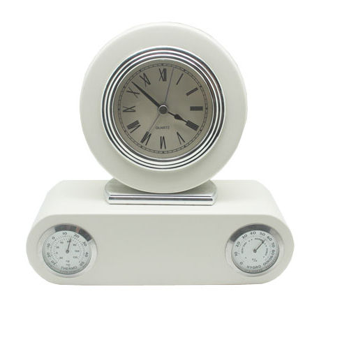 Superior Quality White Wooden Desk Clock