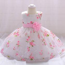 Hot Sale baby girl princess dress  Infant Toddler  girl party dress  cute baby flower girl dress