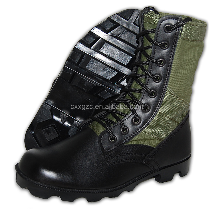 China Xinxing Leather Upper Rubber Outsole Green Military Army Combat Jungle Boots