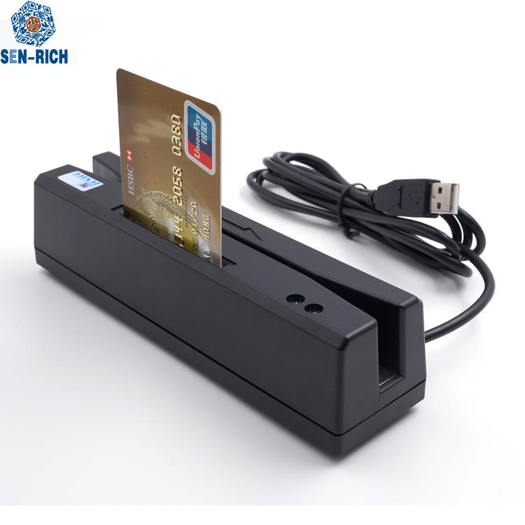 Factory RS160 USB Magstripe Card Reader,msr reader,RFID card reader writer&IC EMV card &PSAM Card