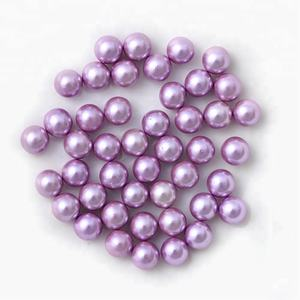 round shape no hole loose beads plastic pearl beads for garment decoration
