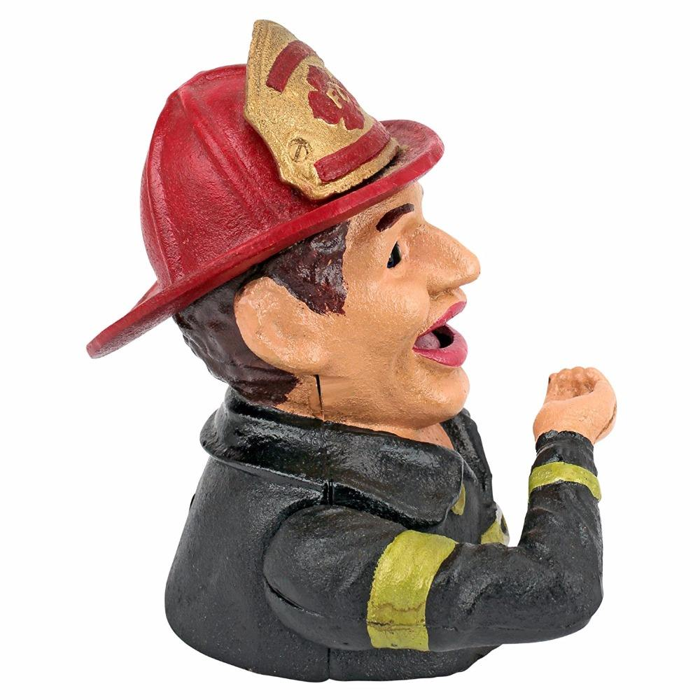 New Style money box Fireman Mechanical metal Coin Bank for souvenir gifts