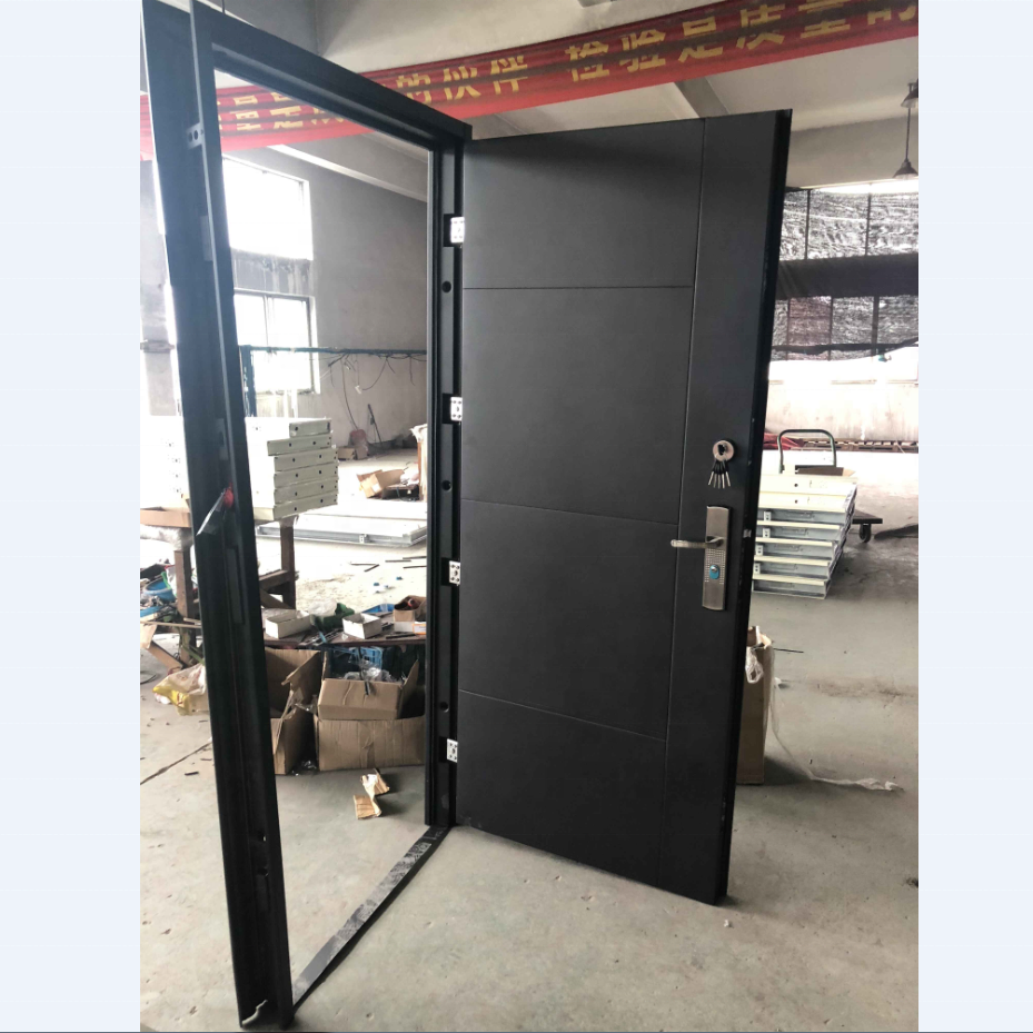 Factory Price China Exterior Black Door Position Steel Security Door Turkey Steel Door