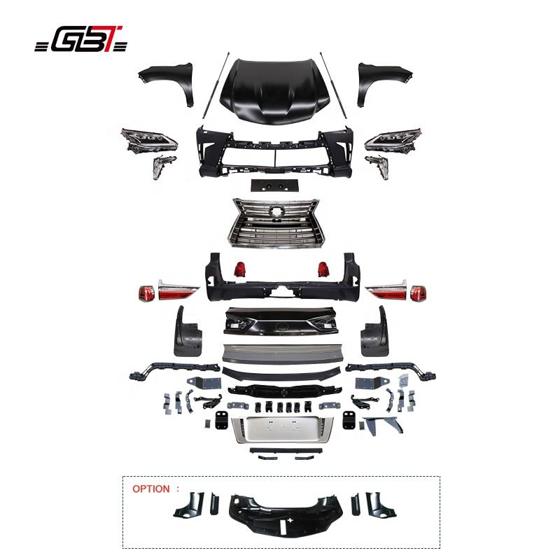 GBT Body kit include front rear bumper grille with fender headlight grille 2010-2017 UPGRADE TO 2018 FOR LEXUS 570 LX570 Model