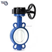 dn300 dn200 Ductile Iron Gear Wafer Type PTFE Butterfly Valve