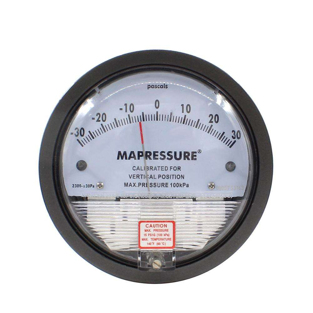 Micro low differential pressure gauge for air pressure gauge