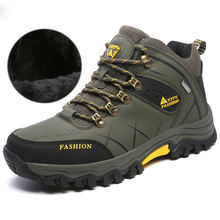 Men's Boots Winter Waterproof Leather Outdoor Hiking Shoes Plus Size