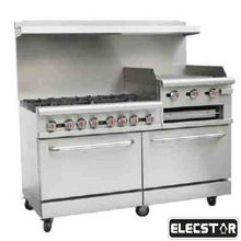 Kitchen Equipments Range Cooking Stainless Steel Commercial Gas Griddle With Oven for restaurant