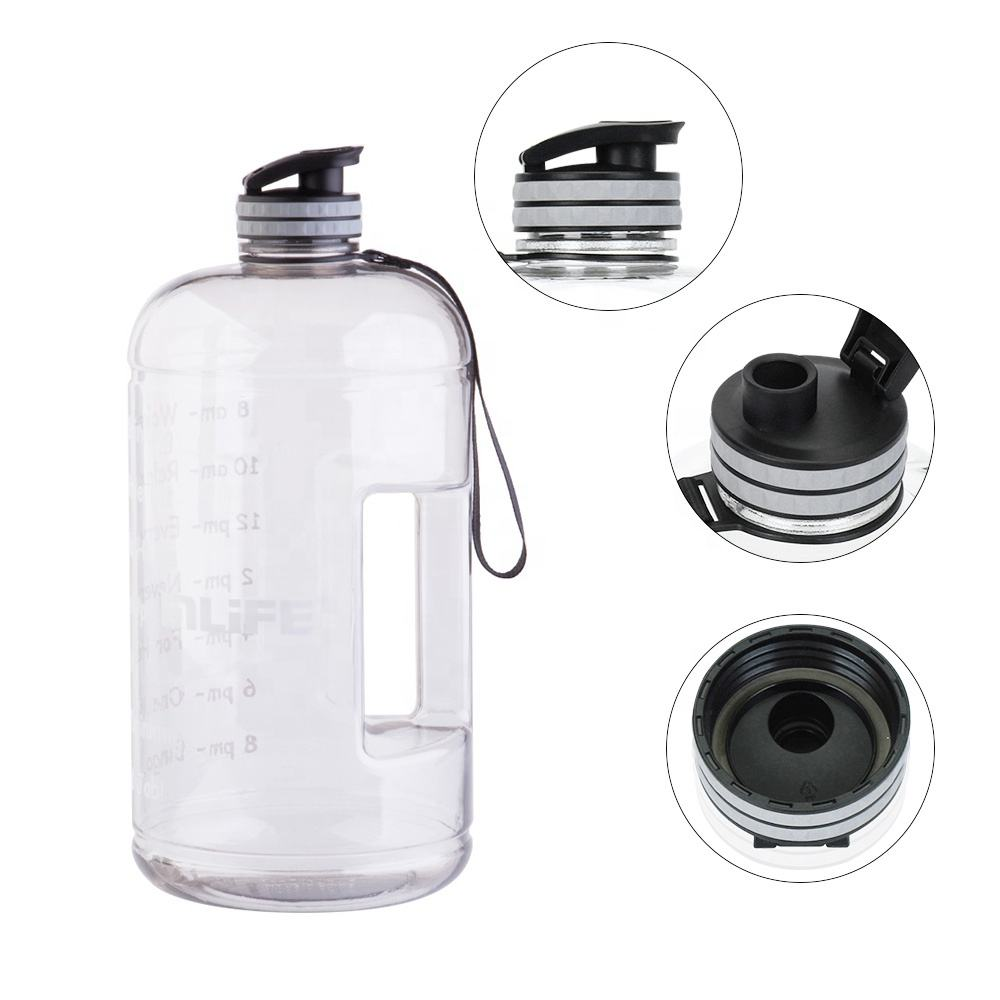 Mlife hot sale free brush 3.78L one gallon large capacity clear sports water bottle