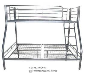 High Quality Heavy Duty Military Metal Black Bunk Bed with Mattress