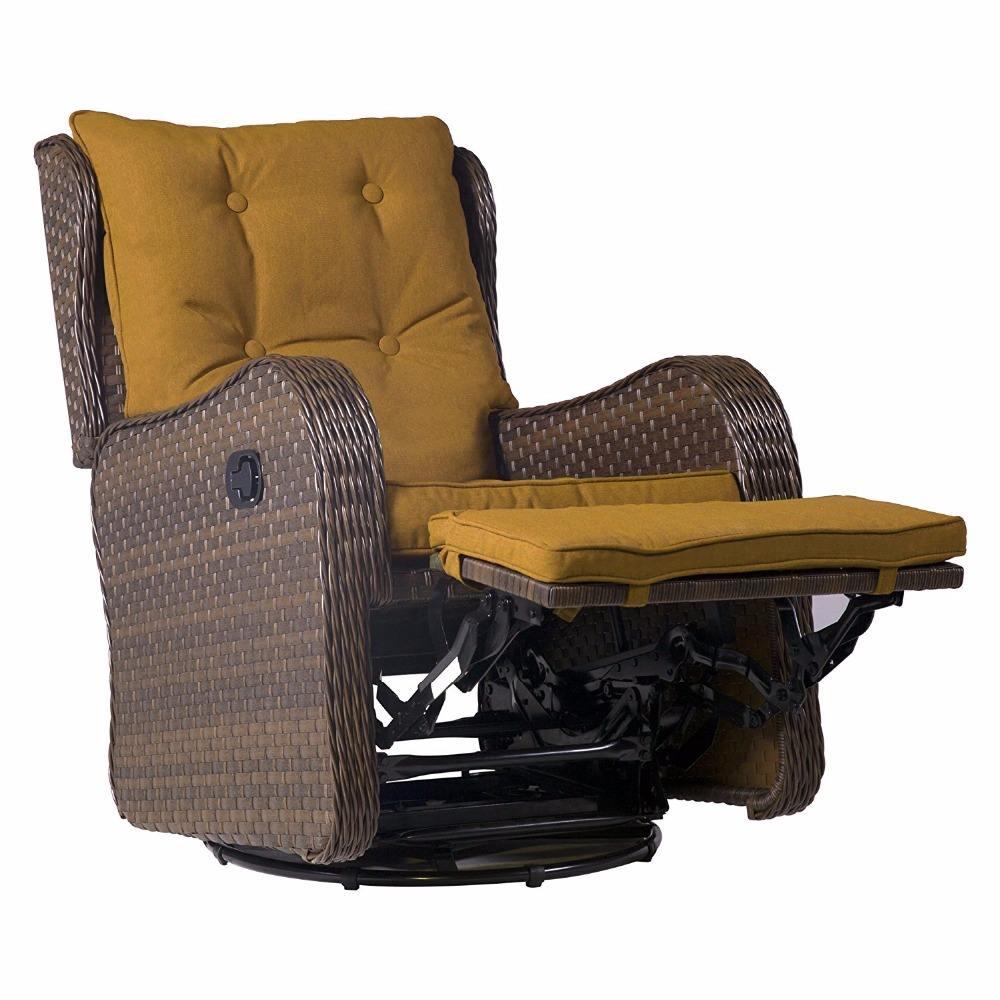 Patio Wicker 360 Degree Giratorio deslizamiento Rocking Rattan Modern Sofa