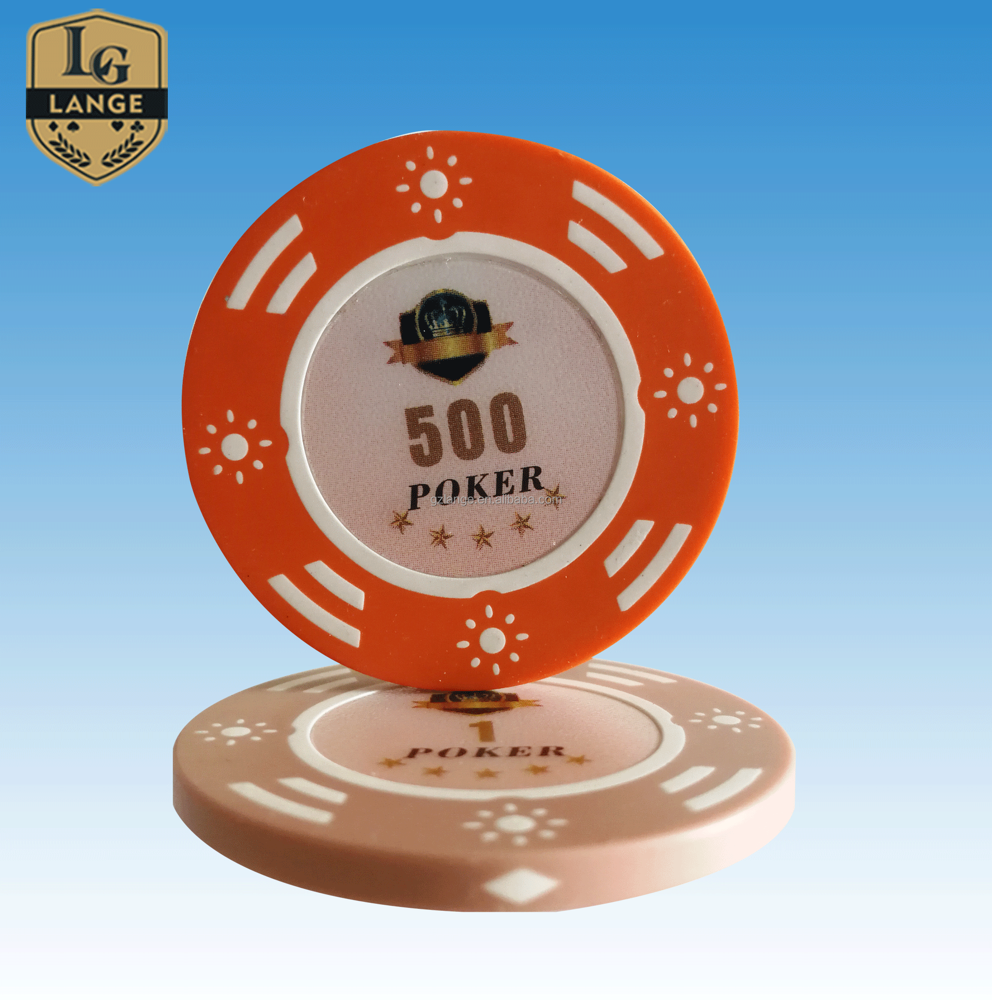 50pcs Ace Casino Laser Clay Poker Chips $10000