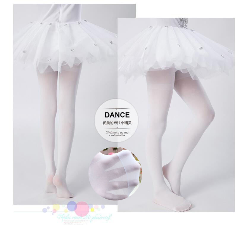 Cute Girls Colorful Decorative Dancing Footed Tights Kids Ballet Dance Tube Pantyhose Tights 15D