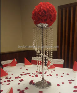 Wholesale crystal fashion metal stand for wedding table centerpiece