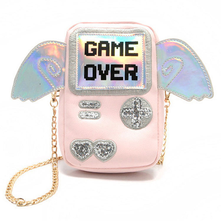 Shenglu I wanna import bag from china creative heaven angel wing game over girlish purse phone small pink laser shoulder bag