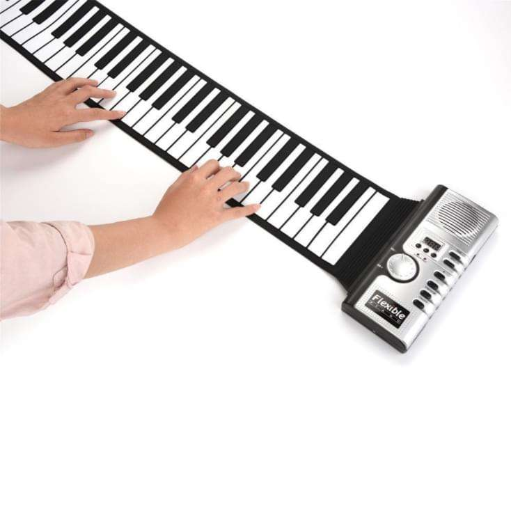61 keys roll up soft keyboard digital electric piano for kids entertainment toy musical instrument