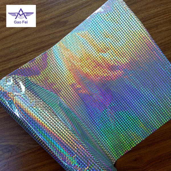BOPP OPP embossing patterns 3d holographic hologram thermal lamination film rolls